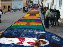 Tapete de rua na Festa de Corpus Christi em Santana do Parnaíba