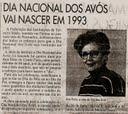 Entrevista em jornal de dezembro de 1992